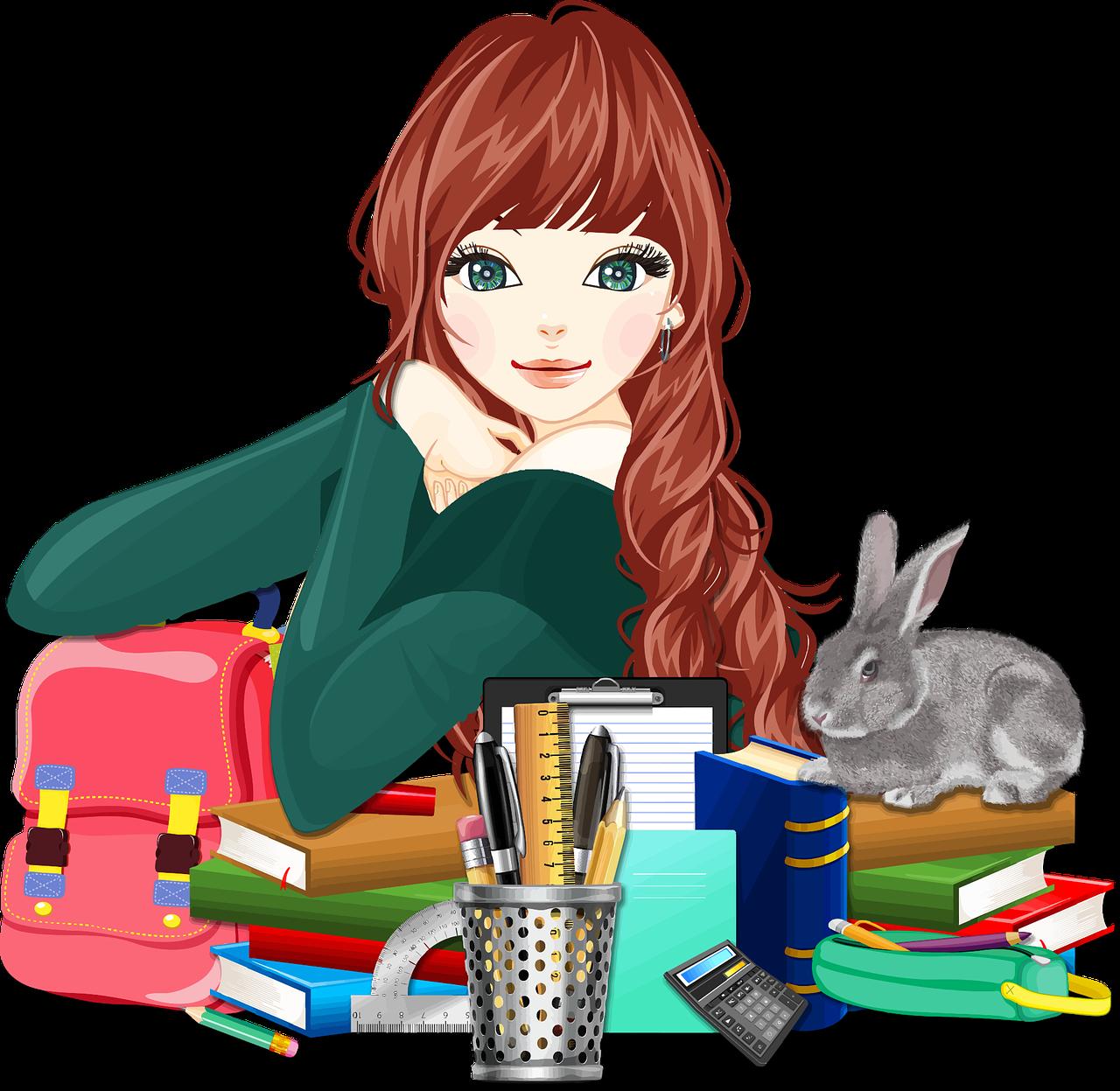 Dievča s knihami